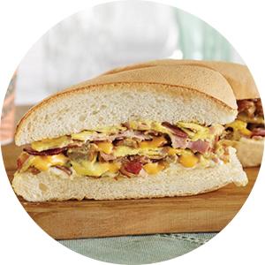 Omelette Trio Sandwich