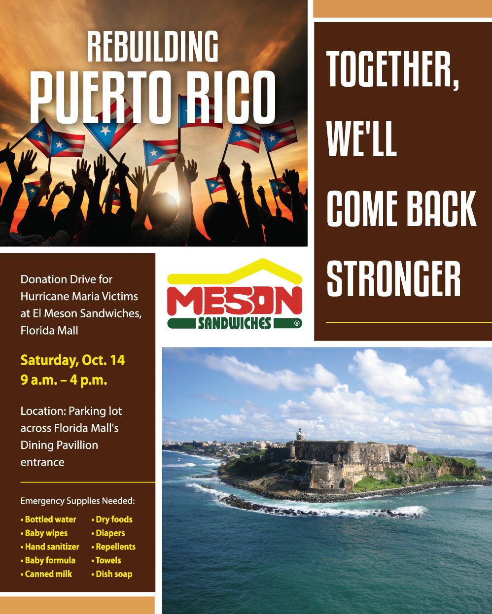 Rebuilding Puerto Rico | Meson Sandwiches