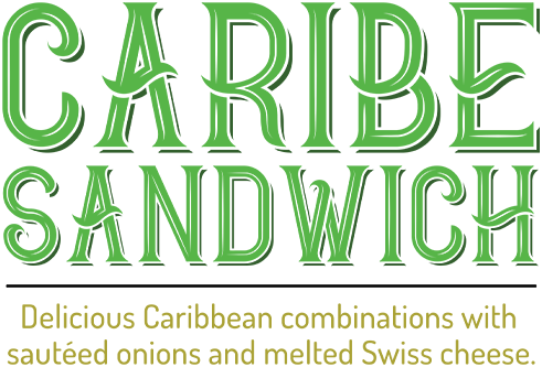 Caribe Sandwich - Delicious Caribbean combinations with sautéed onions and melted Swiss cheese.